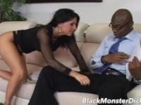 Großer schwarzer diz-Sex Schöne Latina Blowjob